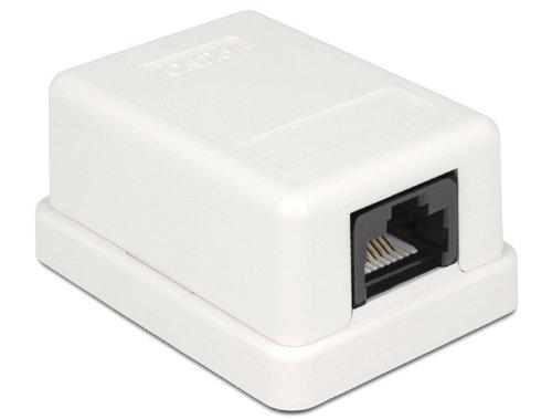 DeLock 86248 Netzwerk Anschlussdose Cat.6 Kompakt UTP, Weiß