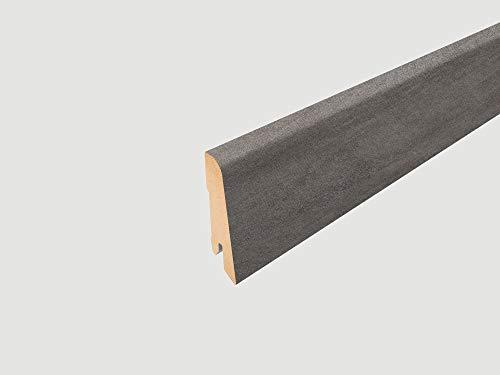 EGGER Home Sockelleiste grau L470 Fußleiste | Bodenleiste 2,4m passt zu EHL004 Cefalu Beton hell