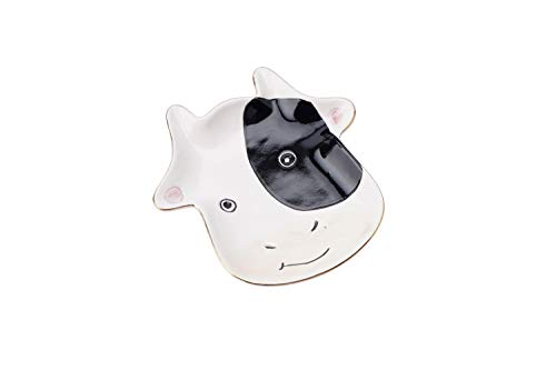 CGB Giftware Decorative Ceramic Smiling Cow Face Dish Trinket Tray | Jewellery, Necklaces and Earrings Organiser and Tray | GB05156