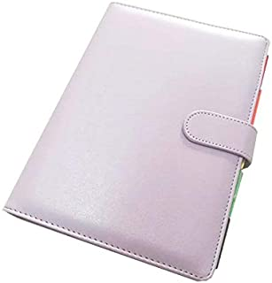 Agenda Planner Caderno Fichario Argola Dourada A5-4 Cores (Lila)