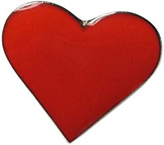 Spilla a forma di cuore rosso amore cuore con smalto in metallo smaltato