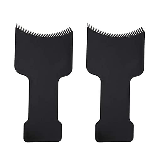 LIXBD Haarfärbe-Set, Balayage, Highlighter-Brett, professionelle Highlights, Paddel-Werkzeuge für Haarfarbe, 2 Stück