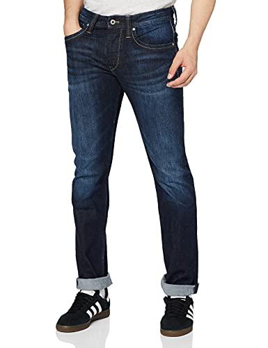 Pepe Jeans Cash Sweat-shirt àcapuche, Azul (11Oz Streaky Stretch Dk Z45), 34W / 32L para Hombre