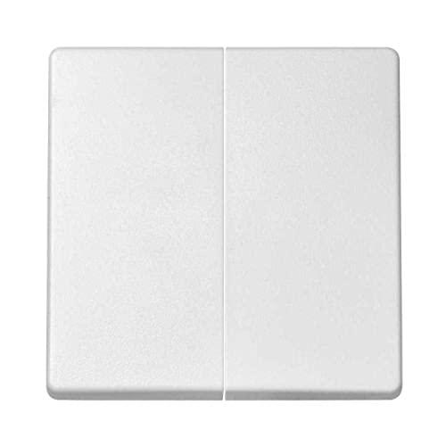 Tecla doble para conmutador cruzamiento, 1 x 5,5 x 5,5 centímetros, color blanco (referencia: 8202026-030)
