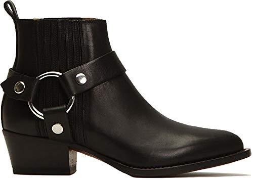 Frye Womens Modern Harness Chelsea Black Chelsea Boots Boots 9