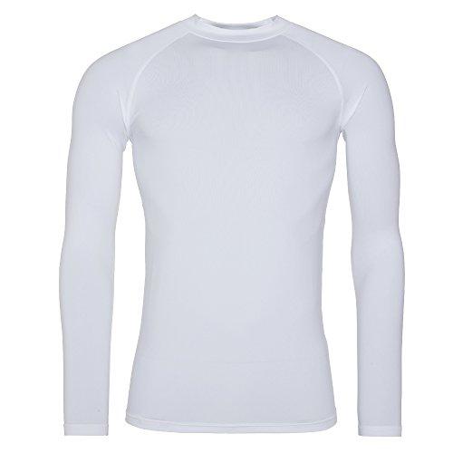 Awdis Just Cool - Maglia Termica a Manica Lunga - Uomo (S) (Bianco)