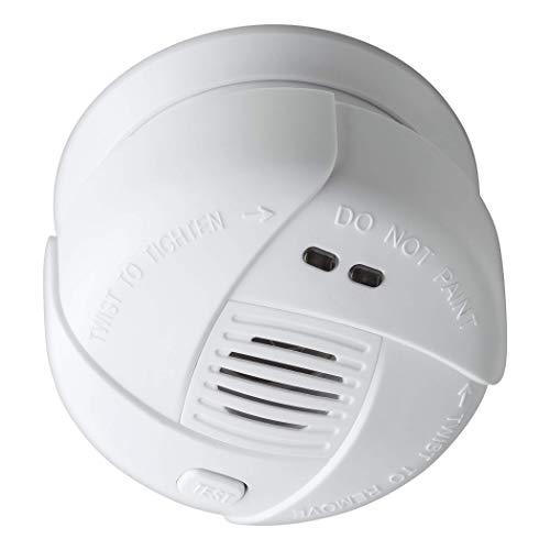 SEBSON 10 Jahres Mini Rauchwarnmelder, DIN EN 14604, VDs 3131, fotoelektrischer Rauchmelder, Lithium Langzeit Batterie, Stummschaltung, Ø 69x46mm