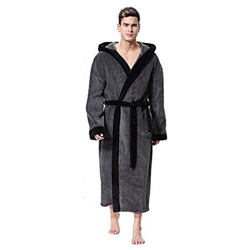 l'hiver Peignoirs De Bain,LONUPAZZ Grande Taille Chemise De Nuit Longues Manteau 100% Coton en Coton pour Absorban Hommes & Femmes - Tailles S-XXXXXL - DifféRents Coloris