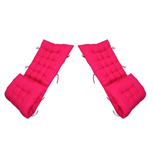 HEJINXL Tuinstoel Kussen Ligbed Kussen Tuin Hoge Rug Stoel Kussen Fauteuil Dikke Pad Binnen Buiten Paars Set Van 2 (stoel Niet Inbegrepen) (Color : F, Size : 120x50cm)