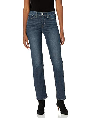 Signature by Levi Strauss & Co. Gold Label Women's Curvy Totally Shaping Straight Jeans, Awaken (New), 8 Medium