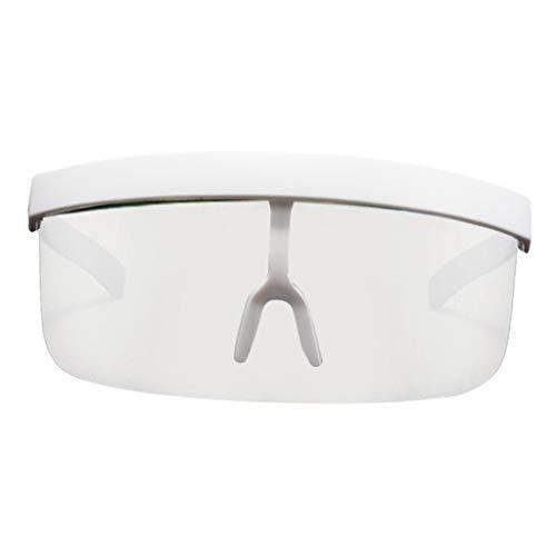 Amuzocity Gafas de Sol Unisex de Gran Tamaño con Protector Facial con Lente - Marco Blanco, 160x64 mm ✅