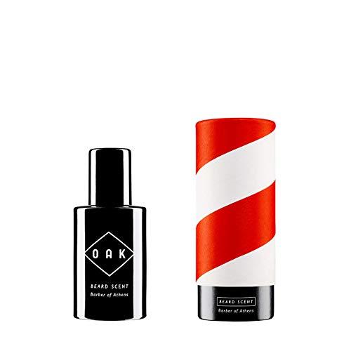OAK BEARD SCENT - Barber of Athens I Beard Oil, Bartöl (30 ml): Aromatisch-holziger Bartduft. Natürliches Bartparfüm für Männer mit 3-Tage-Bart bis Vollbart. Vegane, zertifizierte Naturkosmetik.