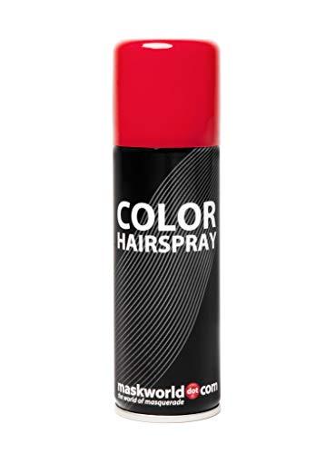 Maskworld Color Haarspray für farbig buntes Haar - Rot - Color Farbspray zum Verkleiden & Schminken für Karneval, Fasching, Halloween & Motto-Party