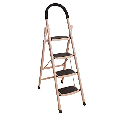 TZD-W ZWeiD Iron Ladder, Five-Step Outdoor Ladder Portable Folding Ladder Four-Step Multi-Function Ladder Library Ladder ladders for Home (Size : 4981155CM)