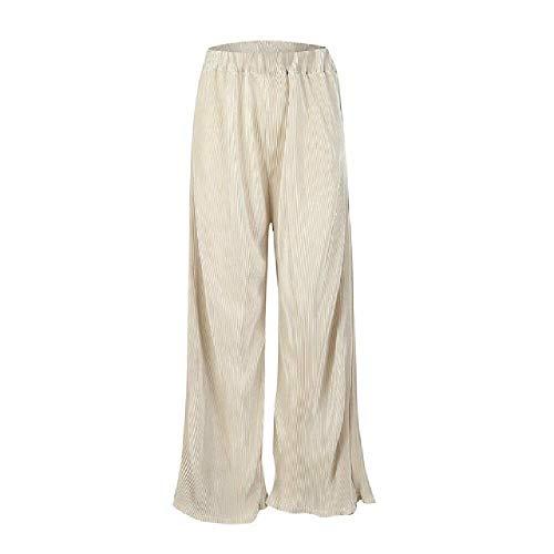 ModaTallas Grandes Mujer Pierna Ancha Cintura Alta Casual 3/4 Pantalones Culottes Sueltos