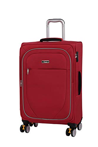 it luggage Lockdown 8 Wheel Lightweight Semi Expander Medium With Tsa Lock Suitcase, 70 cm, 86 L, Red