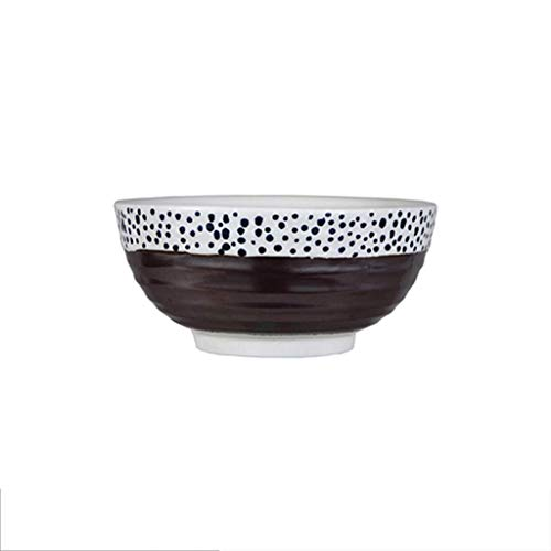 KANJJ-YU Plato de cerámica para ensalada de postre Familiar Restaurante Pasta Cereal Dieta Utensilios Vajilla Marrón 17x8cm Bowl Bowl
