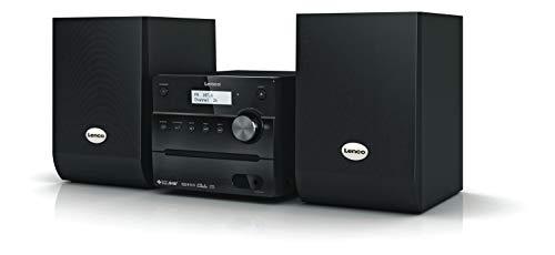 Lenco kompakte Stereoanlage MC-148 mit DAB+, FM Radio, CD/MP3-Player, USB, Fernbedienung, 2 x 10W schwarz