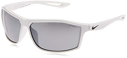 Nike EV1010-100 Intersect Sunglasses (Frame Grey with Silver Flash Lens), White