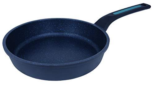 Arcos Serie Thera | Sarten Antiadherente | Aluminio Fundido | Apta cualquier cocina | Mango Ergonómico Plástico y Silicona | Sistema ahorro energético | Apta lavavajillas | Color Negro y Azul (24 cm)