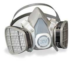 "3M Company 18.5"" x 13.7"" x 13.7"" 5201 Half Facepiece Disposable Respirator Assembly - Organic Vapor, Medium"