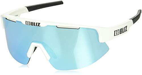Bliz Matrix Sportbrille, Shiny White/Smoke w Blue Multi