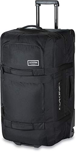 Dakine Split Roller Travel Luggage, Trolley and Sports Bag with Wheels and Telescopic Handle, Black, 110 Litre