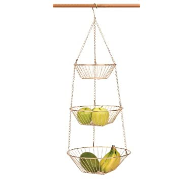 RSVP 3-Tier Hanging Wire Basket, Copper