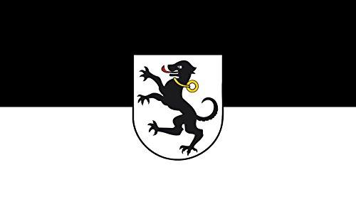 Unbekannt magFlags Tisch-Fahne/Tisch-Flagge: Tettnang 15x25cm inkl. Tisch-Ständer