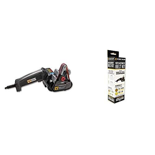 Work Sharp shrapener Adaptersystem Blade Tech Tek-Lok Schärfgerät, Schwarz, midle & Diamantschleifband-Sortiment 180 / 1500 09DX016