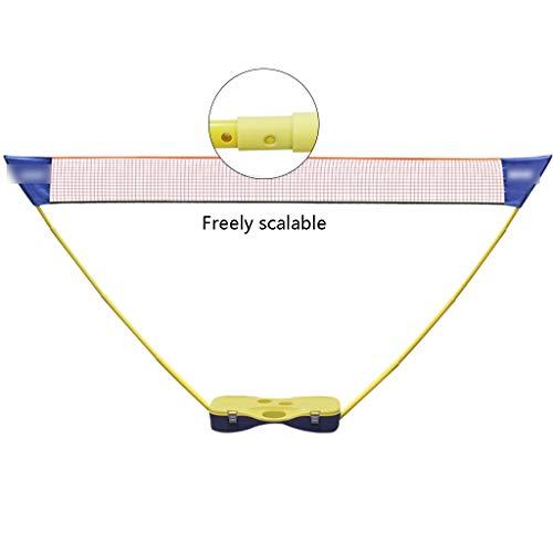 Netze & Garnituren Badminton Badminton-Netzständer tragbar einfache Installation Outdoor-Sport- und Fitnessgeräte Volleyballständer Volleyballnetz (Color : Yellow, Size : 300 * 155 * 73cm)