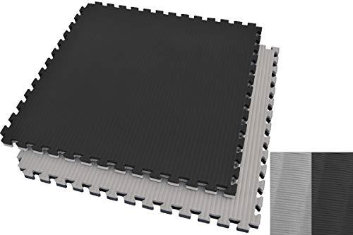 Ninestars Tatami Puzzle 4 cm, color negro y gris, diseño de paja de arroz