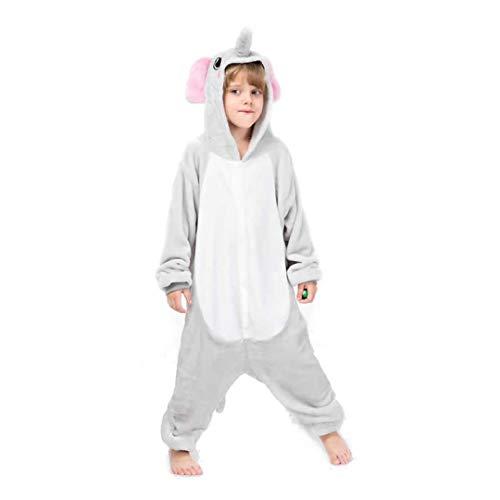 Kinderen Olifant Slaap pak Dier Pyjama Halloween Cosplay Kostuum Onesie Een Stuk