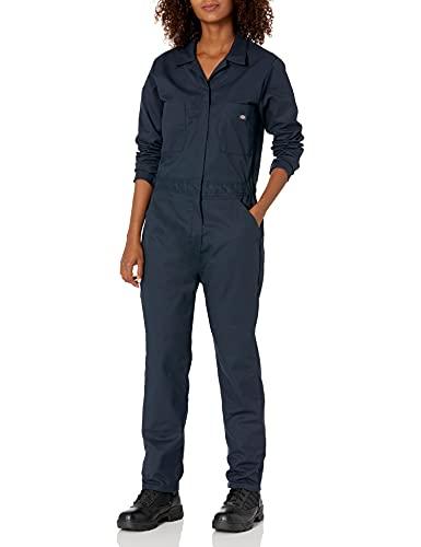 Dickies Women's Long Sleeve Coverall, Dark Navy, XL