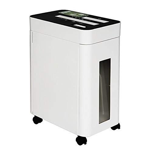ChengBeautiful Trituradora De Papel Eléctrica Trituradora de Alta Potencia eléctrica Empresas Micro Mute File Shredder eléctrico automático para La Oficina En Casa (Color : White, Size : 49x36x23cm)