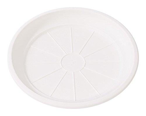 Hobby & Style 5770.0 Soucoupe pour Pot rotin, Blanc, 15 x 15 x 1.7 cm