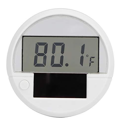 Termómetro de Acuario Mini termómetro electrónico Solar LCD Termómetro acuático Digital Terrario de Agua Accesorio de Temperatura para pecera de Acuario