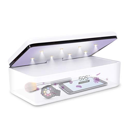 SUNUV Esterilizador de UV, para utensilios de maquillaje como cortaúñas, lima, cepillo, cuchilla, herramientas para bebés rápido y libre de gérmenes 59s S2