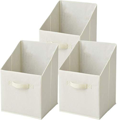 [山善] 収納ボックス 幅25×奥行25×高さ38cm 縦型 カラーボックス対応 完成品 アイボリー 3個組 YTCF-3PT(IV)