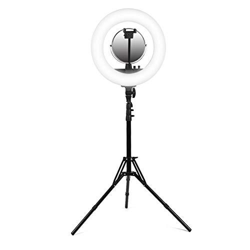 FOLOSAFENAR Selfie Fill Light Anillo de luz de Alto Brillo Diseño de botón Simple Multifuncional para salón de Belleza(European Standard 110-240V)
