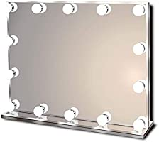 Hollywood Lighted Vanity Makeup Mirror with Bright LED Lights, Light up Frameless Dressing Table Cosmetic Mirror with 14...