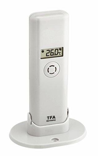 TFA Dostmann Weatherhub Thermo-Hygro-Sender, Kontrolle der Temperatur/Raumfeuchtigkeit, mit Display