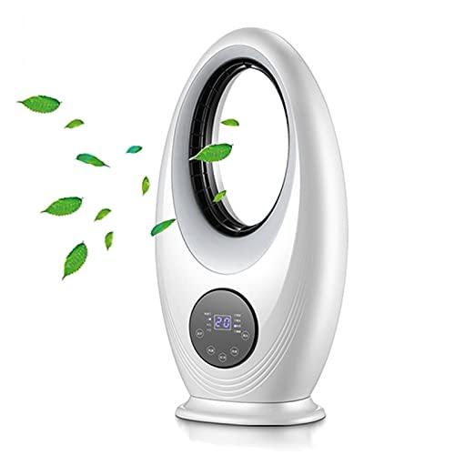 YMXLXL Ventilador Sin Aspas, con Mando a Distancia, 3 Configuraciones de Velocidad, Temporizador de 12 Horas, Luz LED Incorporada, 30X15X60cm para el Dormitorio de la Oficina en Casa