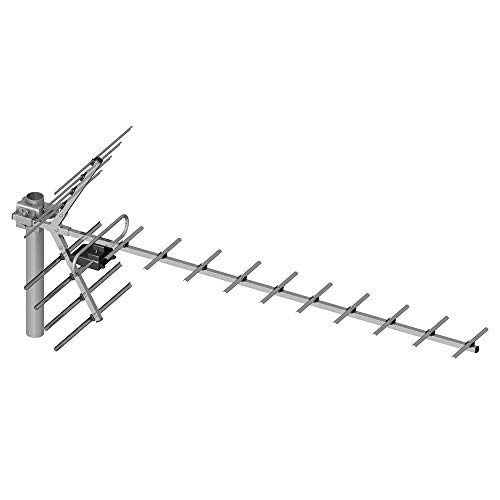 PNI PNI-19DB-DVB TV-antenne, Yagi 14 dB DVB-T2 buitenshuis grijs