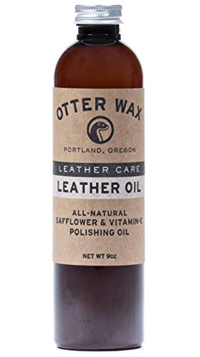 Otter Wax Leather Oil   9oz   All-Natural Universal Polish & Conditioner   Made in USA