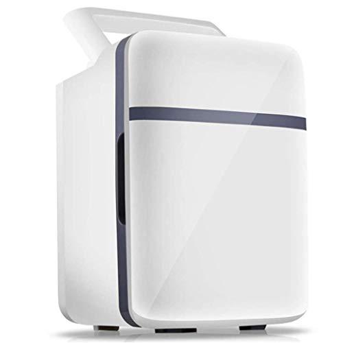 DKEE mini nevera Mini Refrigerador 10 L Refrigerador Y Calentador De Automóviles Eléctricos, Cables De Alimentación De CA Y CC Refrigerador Compacto Portátil Con Estantes Ajustables for El Hogar, La O