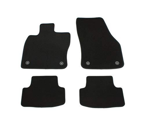 V-MAXZONE PARTS Alfombrillas negras VD264 para todo tipo de clima, sin olor, terciopelo, 4 piezas, accesorios para el coche compatibles con Seat Ateca tipo 2016 2017 2018 2019