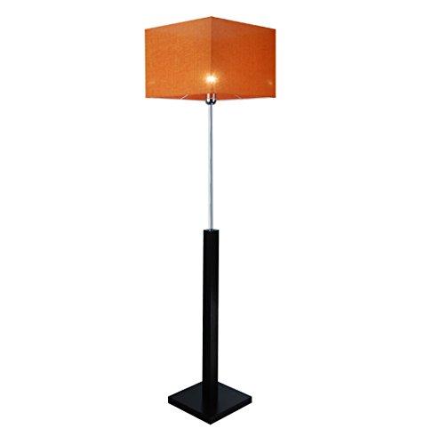 Stehlampe, Stehleuchte - HausLeuchten - LP3ORD - WENGE - Massivholz, Deckenfluter, Standleuchte (ORANGE)