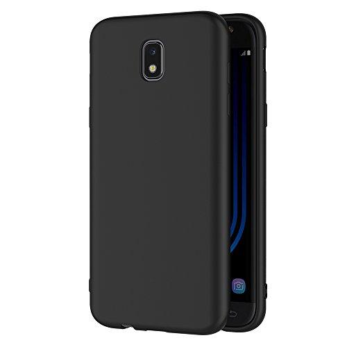 AICEK Cover per Samsung Galaxy J5 2017, Cover Samsung J5 2017 Nero Silicone Case Molle di TPU Sottile Custodia per Galaxy J5 2017 (5,2 Pollici SM-J530F)