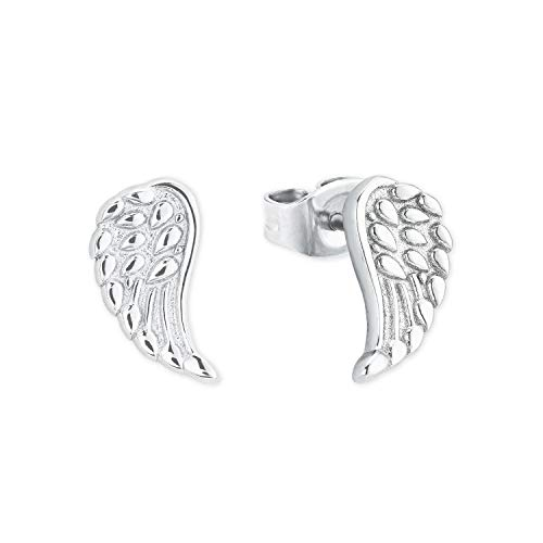 amor Ohrstecker für Damen, Sterling Silber 925, Flügel